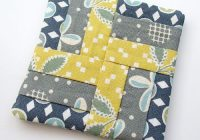 i like this pattern for quilt squares quilted coasters Interesting Quilted Coasters Pattern Inspirations