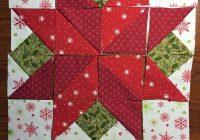 i wish you a merry qal block 7 poinsettia janda bend Modern Poinsettia Quilt Block Pattern Gallery