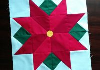 i wish you a merry quilt a long poinsettia quilting Modern Poinsettia Quilt Block Pattern Gallery
