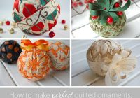 if you can fold a piece of fabricyou can make a perfect Modern Quilted Ball Ornament Pattern Inspirations