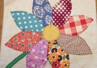 Interesting 2 vintage sunflower appliqued quilt blocks hand stitched Stylish Hand Applique Quilt Patterns