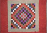 Interesting amish sunshine and shadow antique quilt wool red border 10 Cozy Quilt Sunshine Shadow