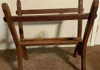 Interesting antiquevintage handcrafted wooden quilt rack ebay Elegant Vintage Quilt Rack