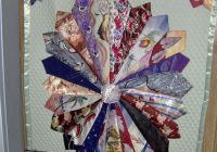 Interesting daddys ties quilt tie quilt quilted wall hangings crafts Cool Tie Quilt Ideas For Gifts Inspirations