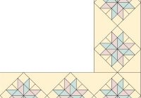 Interesting eight pointed star quilt border pattern howstuffworks Cozy Quilting Border Patterns