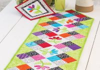 Interesting exclusively annies quilt designs flower patch table runner pattern 9 Modern Quilt Patterns For Table Runners