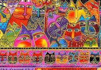 Interesting fabric from the fabulous felines collection laurel 9 Cozy Laurel Burch Quilt Fabric