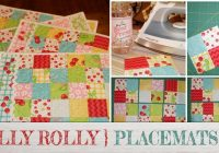 Interesting free jelly roll quilted placemat pattern beginners 10 Cool Easy Quilted Placemats To Sew