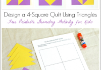 Interesting geometry for kids quilt activity using triangles free 9 Stylish Geometric Quilt Patterns Printable