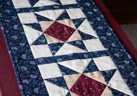 Interesting how to make a patriotic table runner google search 9 Modern Quilt Patterns For Table Runners