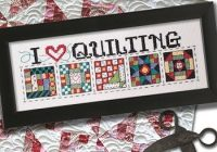 Interesting i love quilting e delivery 9 Unique Cross Stitch Quilt Block Patterns Gallery
