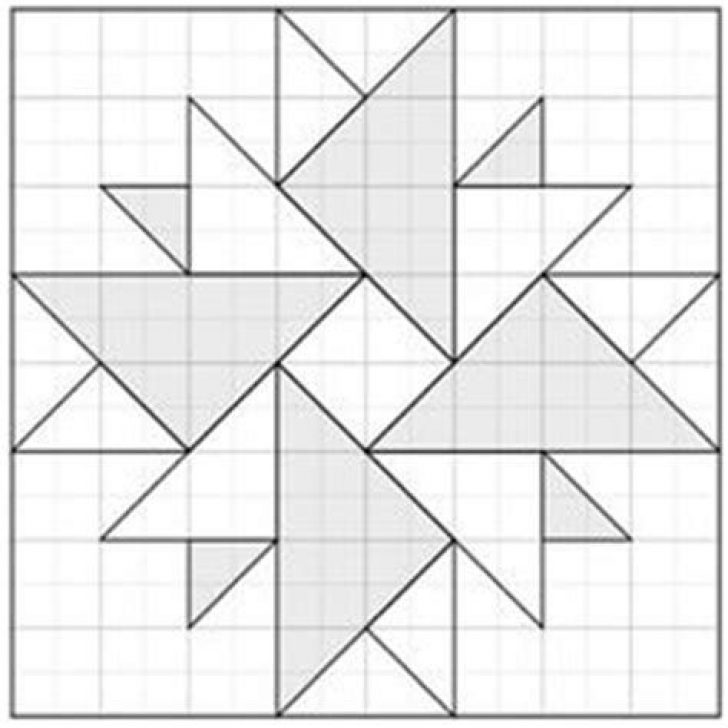 Permalink to 9 Stylish Geometric Quilt Patterns Printable