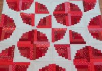 Interesting janice elaine sews curved log cabin quilt top 10 Interesting Curved Log Cabin Quilt Pattern