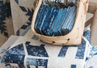 Interesting patches of blue quilt along fabrics Beautiful Lovely Laundry Basket Quilts Fabric Inspirations