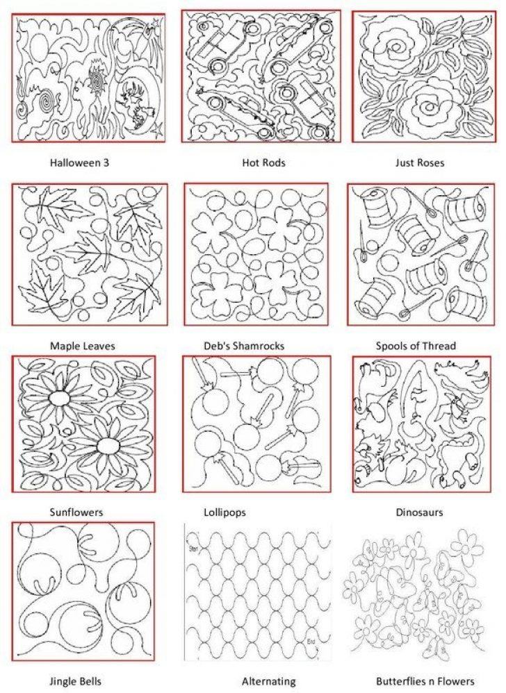 Permalink to 11   Machine Quilting Quilting Pattern Inspirations