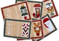 Interesting pin on sewing Interesting Quilted Christmas Placemat Patterns Free Gallery