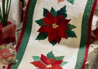 Interesting poinsettia table runner 11 Stylish Poinsettia Quilt Pattern Inspirations