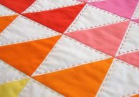 Interesting rainbow triangles hand quilting gorgeouslove this 11 Cool Quilting Triangles Gallery