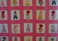 Interesting sunbonnet sue and overall bill quilt cindy rennels antique Beautiful Overall Bill Quilt Pattern