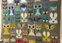 Interesting the woodlands creatures quilt with woodgrain quilting 11 Cozy Woodland Creatures Quilt Pattern Inspirations