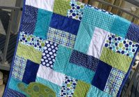 Interesting this easy half square blocks quilt is a great choice for Stylish Easy Beginner Block Quilt Patterns