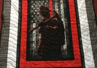 Interesting twin xl size fireman quilt with american flagquilts for mengift for manman cave giftfirefighterboy quilt 11 Modern Firefighter Quilt Patterns