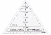 Interesting us 342 25 off60 degree equilateral triangle quilting ruler template diy sewing craft toolsewing tools accessory aliexpress 10   60 Degree Triangle Quilting Ruler Inspirations