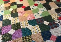 Interesting vintage 1940s handmade hand stitched quilt bow tie pattern76 x 69 ebay 9 Stylish Vintage Hand Stitched Quilts