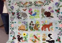 Interesting woodland creatures woodland quilt animal quilts ba 11 Cozy Woodland Creatures Quilt Pattern Inspirations