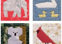 its back 53 animal quilt blocks to paper piece giveaway Modern Animal Patchwork Quilt Patterns Gallery