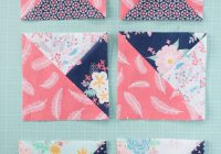 its time to learn how to sew a quarter square triangle Sewing Triangles Together Quilting Inspirations