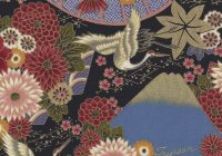 japanese asian oriental flowers cranes on purple quilting 9 Elegant Asian Quilt Fabric Gallery