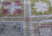 jeanettes vintage hankie quilt vintage linens Unique Vintage Hankie Quilt