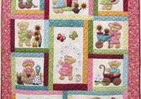 kids quilts daisy bear girl teddy bear applique quilt Unique Teddy Bear Applique Quilt Pattern Inspirations