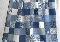 king patchwork quilt w designer fabrics blue white ella Modern Quilting Fabric Whole