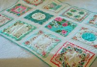 lake and garden vintage hankie quilt beautiful just love Unique Vintage Hankie Quilt