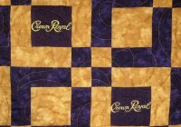lap sized crown royal quilt made from your bags Cozy Crown Royal Bag Quilt Patterns