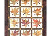 lazy leaves quilt pattern Elegant Autumn Leaf Quilt Pattern Inspirations