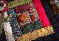 log cabin block in recycled wool wool quilts wool Modern Felted Wool Quilt Patterns Gallery