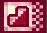log cabin heart quilt block pattern download table runners Unique Log Cabin Heart Quilt Pattern