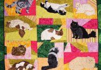 long haired cats pattern Elegant Cat Applique Quilt Patterns