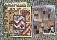 lot 3 turning twenty quilt pattern using fat quarters designed tricia cribbs ebay Cool Turning Twenty Quilt Pattern