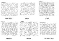 lots of free motion quilting patterns longarm quilting Cool Quilting Stitching Patterns Inspirations