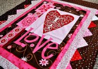 love is in the air quilt kit quilts quilts panel quilts Cool Vintage Valentine Quilt Kit Gallery