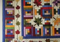 love the combination of log cabin and leaf blocks log Unique Log Cabin Patchwork Quilt Patterns Gallery