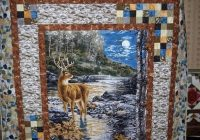 love this idea for a panel quilt border from the quilting Cozy Quilt Patterns Using Fabric Panels Gallery