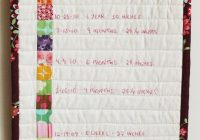 make an embroidered growth chart crafts fabric growth Cool Quilted Growth Chart Pattern Inspirations