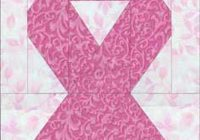 make awareness ribbon quilt blocks for a friend or family Cozy Breast Cancer Quilt Pattern