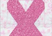 make awareness ribbon quilt blocks for a friend or family Cozy Pink Ribbon Breast Cancer Quilt Pattern Inspirations