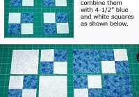 make dual double four patch blocks and experiment with lots Easy Four Patch Quilt Pattern